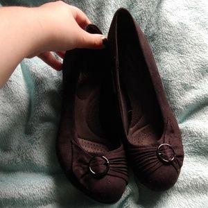 Dexflex comfort black dress shoes